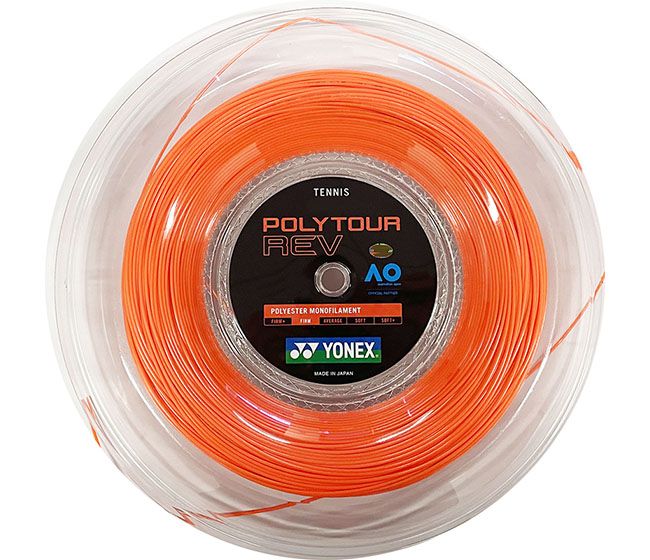 Yonex Polytour REV 125 656' Reel (Orange)