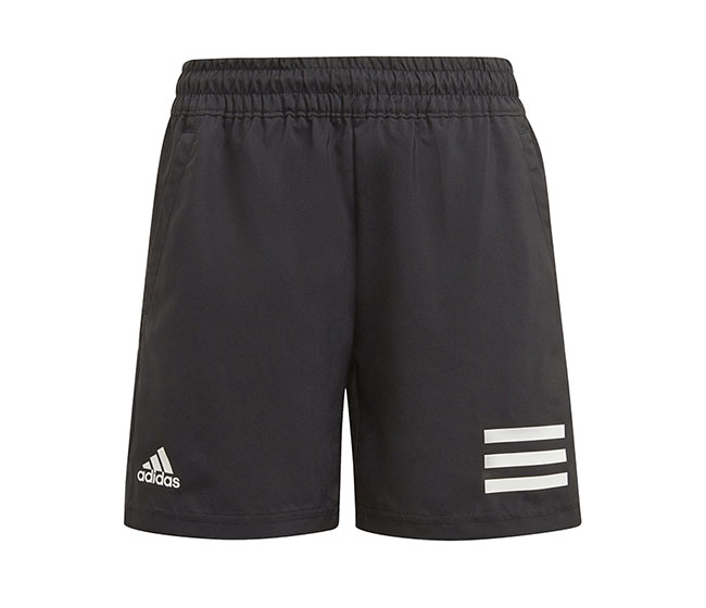 adidas Boys Club 3 Stripe Short (Black)