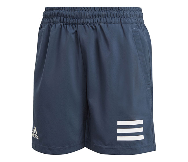adidas Boys Club 3 Stripe Short (Navy)