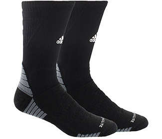 adidas Alphaskin Max Cushioned Crew-Large (1x) (Black)