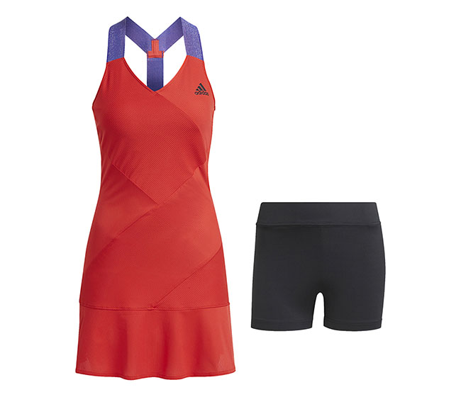 adidas Y Primeblue Dope Dye Dress (W) (Red)