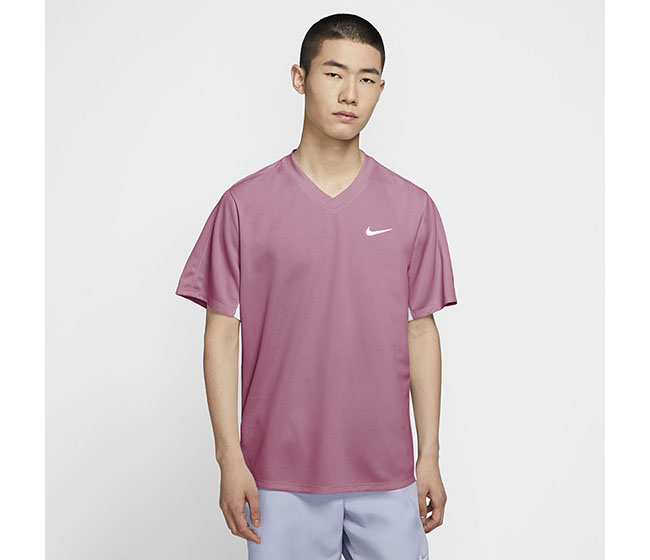 Nike Court DriFit Victory Top (M) (Pink)