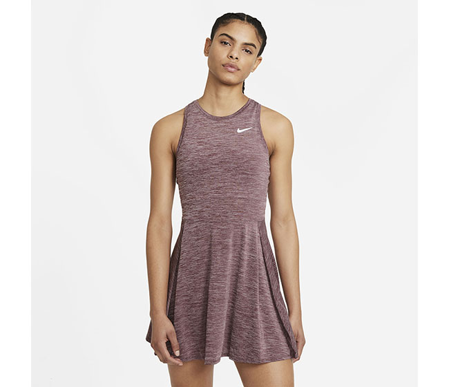 Nike Court DriFit Advantage Dress (W) (Maroon)