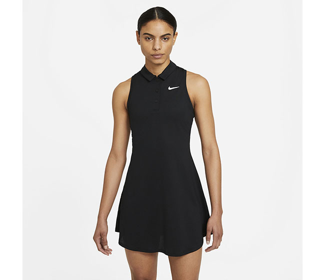 Nike Court Victory Polo Dress (W) (Black)