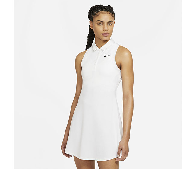 Nike Court Victory Polo Dress (W) (White)