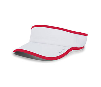 Pacific Lite Active Visor (U) (White/Red)