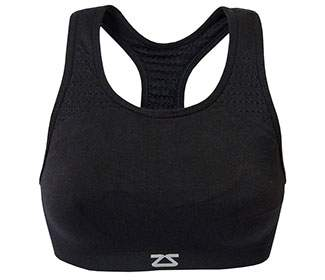 Zensah Seamless Sports Bra (Black)