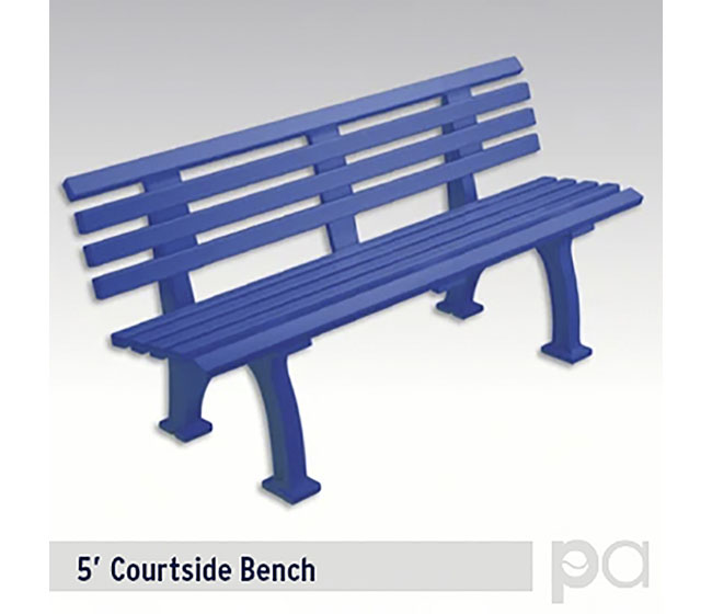 5' Courtsider Bench Blu
