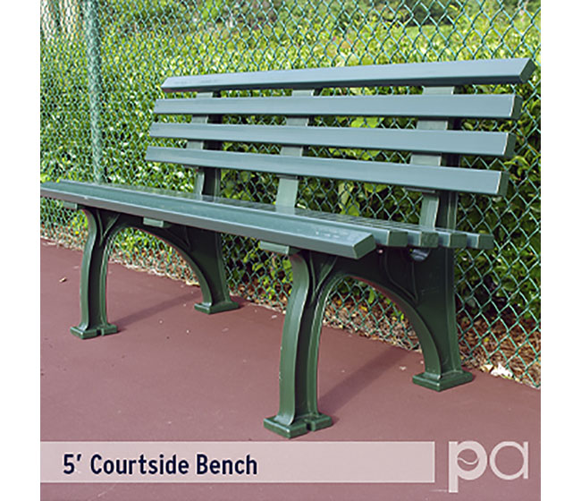 5' Courtsider Bench Grn