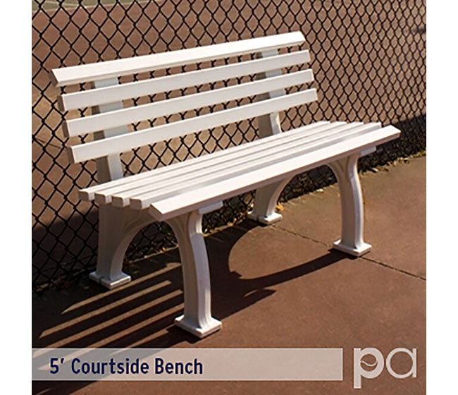 5' Courtsider Bench Wht