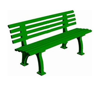 4' Courtside Bench (Green)