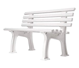 4' Courtside Bench (White)