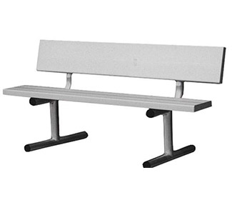 5' Aluminum Tennis Court Bench (White)