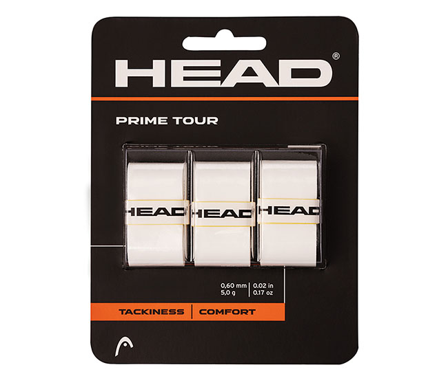 Head Prime Tour Overgrip (3x) (White)