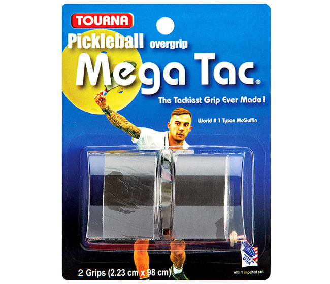 Tourna Mega Tac Pickleball Overgrip (2x) (Black)