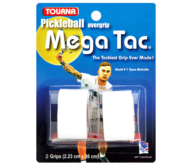 Tourna Mega Tac Pickleball Overgrip (2x) (White)