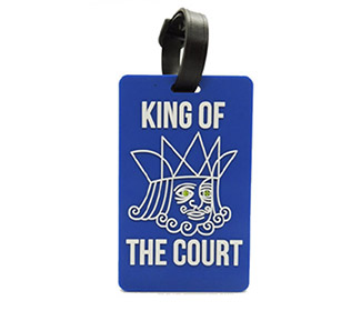 "Tennis Bag Tags ""King of the Court"" (1x)"