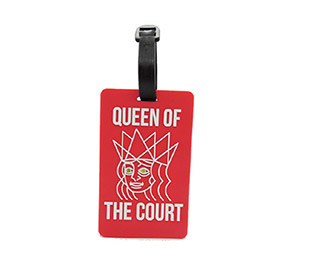 "Tennis Bag Tags ""Queen of the Court"" (1x)"