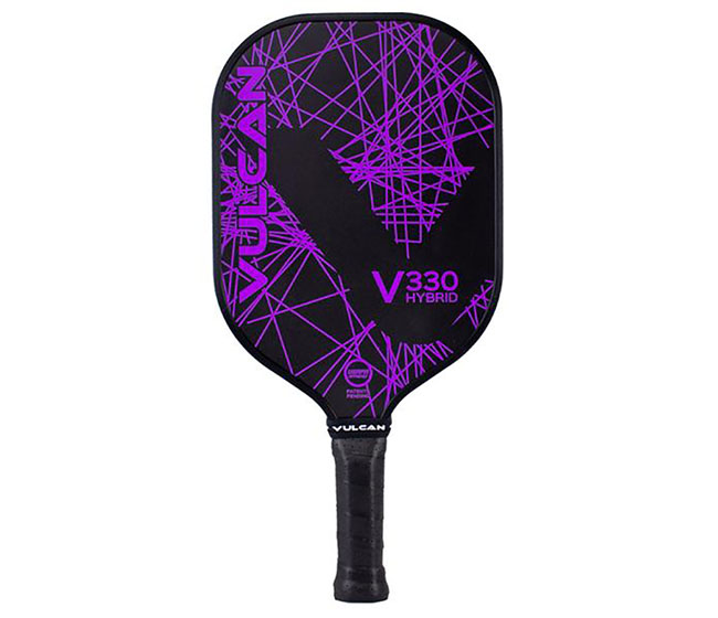 Vulcan V330 Hybrid Pickleball Paddle (Purple Lazer)