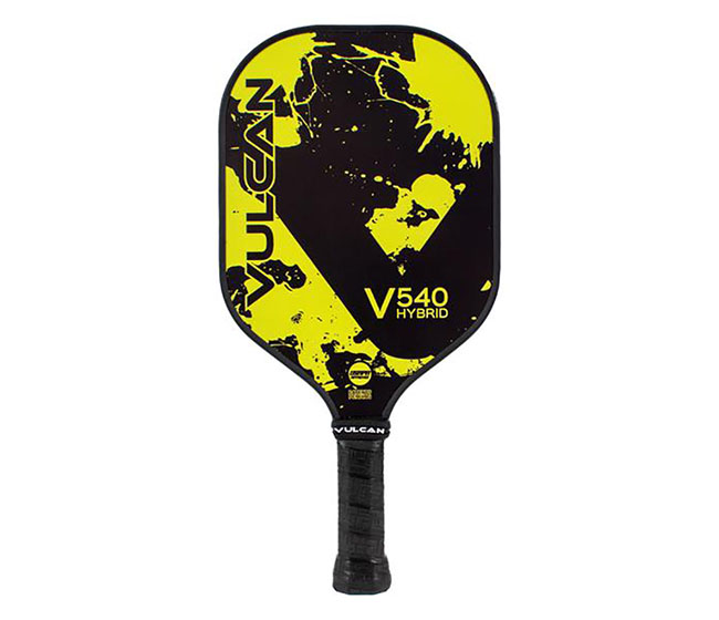 Vulcan V540 Hybrid Pickleball Paddle (Yellow Splatter)