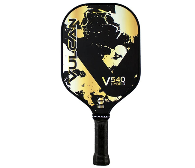 Vulcan V540 Hybrid Pickleball Paddle (Gold Splatter)